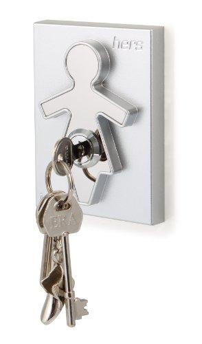 j-me original design original design Stainless Steel Hers Plastic Keyholder, Silver