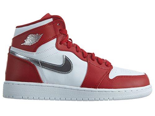 Nike Air Jordan 1 Retro High Bg, Scarpe da Basket Bambino Rosso