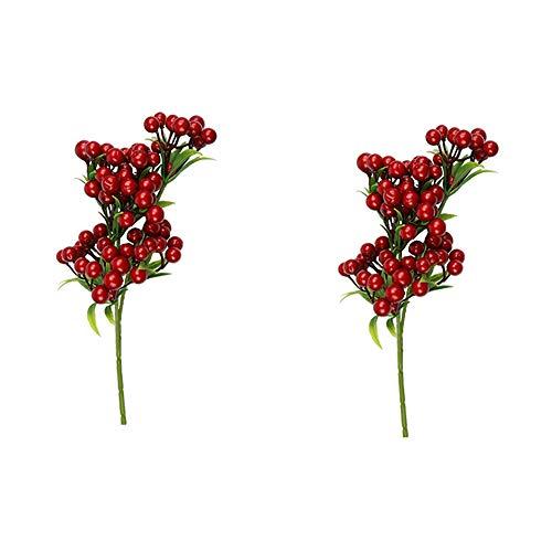 Domire 2 Ramo Fruta Baya Flores Artificial Ramo Plantas