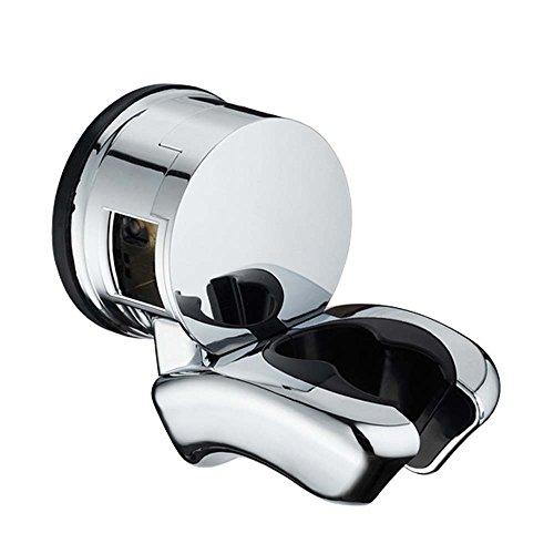 Dusche Kopf Halterung Halter | Leistungsstark Vakuum Saugnapf 2Modus Winkel verstellbar Wand montiert Dusche Kopf Halter für Badezimmer–wiederverwendbar chrom wasserdicht Finish silber Wasserhahn Montiert Wasserfilter