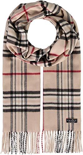 FRAAS Schal aus reinem Cashmink für Damen & Herren - Made in Germany - XXL-Schal - The Plaid - weicher als Kaschmir - Perfekt für den Winter Beige