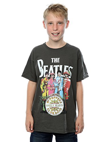 The Beatles niños Sgt Pepper Camiseta 5-6 Years Grafito luz