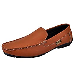 Fausto Mens Tan Loafer - 8 Uk