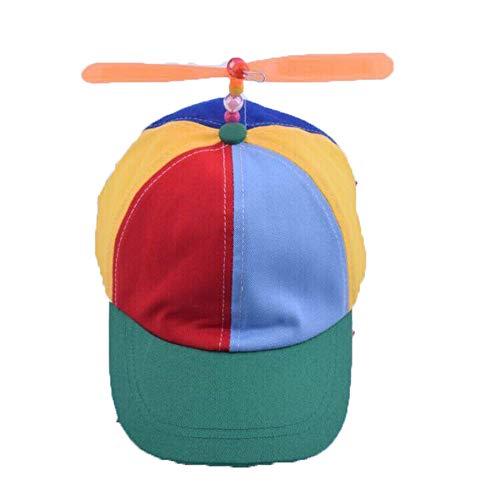 MDKZ Kappe Sommer Kind Erwachsene Einstellbare Propeller Ball Baseball Cap Libelle Top Multi-Color Patchwork Sun Cap Kostüm