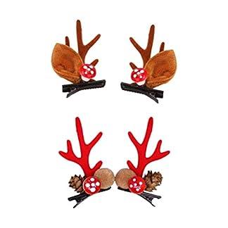 STOBOK pinza pelo navidad pasadores de pelo asta felpa piñones horquillas tocado
