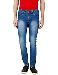 ANSH FASHION WEAR Men's Jeans - Contemporary Slim Fit Denims For Men - Washed Mid Rise Comfortable Jeans - B06XXJS4JX
