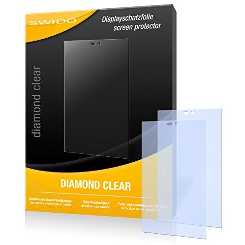 SWIDO 2 x Bildschirmschutzfolie Gigabyte GSmart Roma R2 Schutzfolie Folie DiamondClear unsichtbar