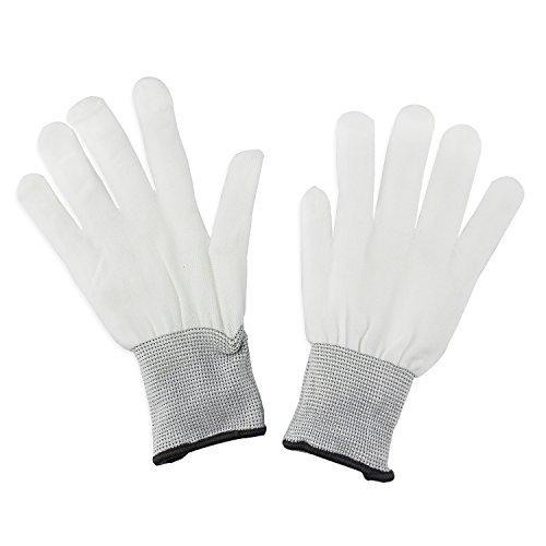 ESUMIC® Raver geschwärzt Handschuhe LED Skeleton Single Color Light Show Handschuhe (Maske Raven)