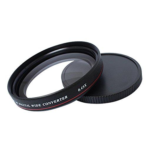 Shiwaki 72 MM 0,45 X Weitwinkelfilter Kameraobjektiv Optisches Glas Weitwinkelkonverter