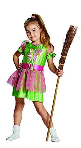 Rubies Kinderkostüm - Bibi Blocksberg Dress Gr. 128 (Rosa Und Grün Hexe Kostüm)