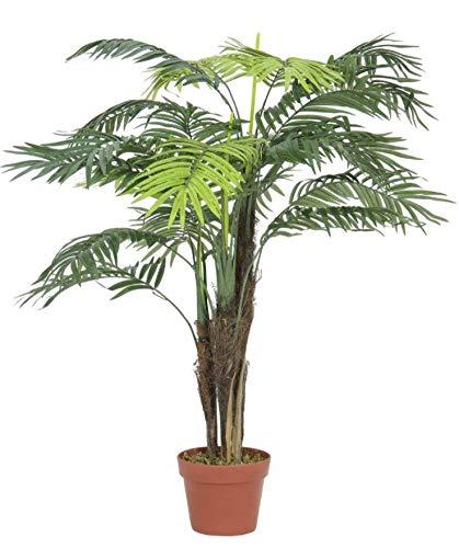 artplants.de Set 'Kunstpflanze Areca und UV Schutz Spray' - Kunstpalme Lucina, wetterfest, grün, 110cm