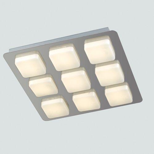 LED-MADISON-Q9 PLAFONIERA MADISON LED NIKEL 9XLED 6W INCLUSE