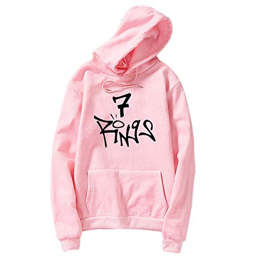 Duoyi EU Frauen 7 Rings Hoodie Sweatshirt Music Fans Kapuzenpullover Top Damen Herbst Winter Streetwear Rosa Small
