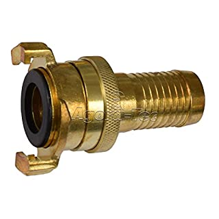 Agora-Tec Brass Quick-Action Coupling 1 Inch (25.4 MM) Hose Connector with Locking Nut for 1–Inch Hose Connector with Quick-Release Fastener