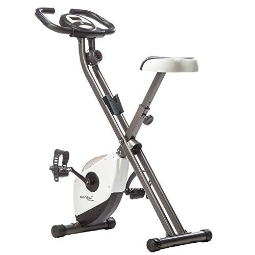 skandika Foldaway X-1000 Fitnessbike, 2,6 kg Schwungmasse, weiss