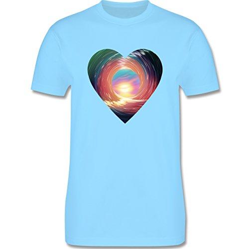 Wassersport - In the tube - surfing - Herren Premium T-Shirt Hellblau