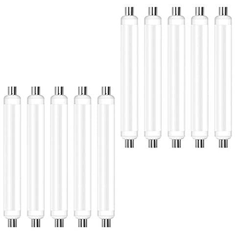 OSRAM LED STAR / Tube LED LINOLITE S19, 9W Equivalent 60W, dépolie, Angle : 140°, Blanc Chaud 2700K, Lot de 10 pièces