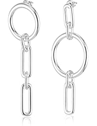 Pilgrim Women Silver Plated Hoop Earrings - 261826223 9sxKfXG3qy