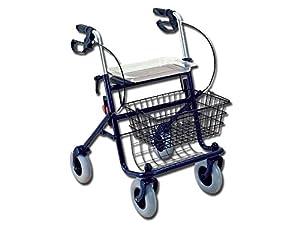 GIMA 4wheels walking rollator, folding mobility walking aid, elderly walker, lightweight rollator