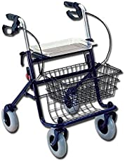 GIMA 43142 Rollator, 4Räder, 12,5kg, maximale Belastung 100kg, Blau