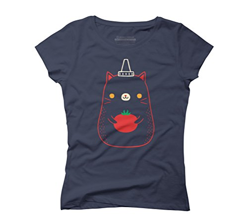 tomato catchup Women's Graphic T-Shirt - Design By Humans Navy