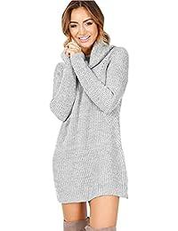 Vestido de Otoño Invierno Mujer, Amlaiworld Mujeres casual Manga larga suéteres jersey chaqueta