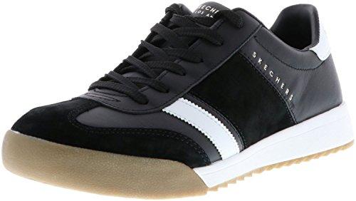 Skechers 52322/BKW Zinger-Scobie Herren Sneaker schwarz/weiß, Größe:43, Farbe:Schwarz