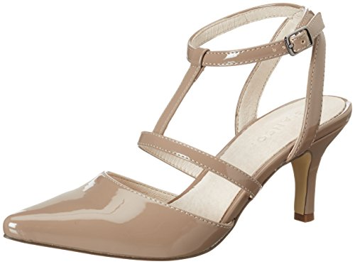 Bianco Mini T-bar Pump Jfm17, Escarpins femme Beige (nougat)