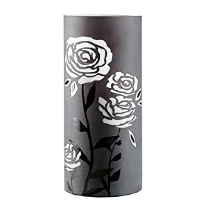 gilde glas art vase gro deko design rose noir 50 cm hoch grau dekoration k che. Black Bedroom Furniture Sets. Home Design Ideas