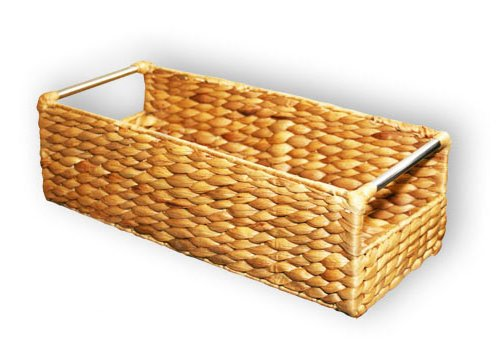 KMH®, Extra schmale Korb-Box aus geflochtener Wasserhyazinthe (#204034) Schmale Korb