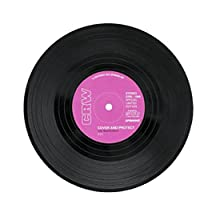 6Pcs/Set Dessous de Verre Rond Vintage CD vinyle Porte-gobelet Cadeau Pour Fans Musique