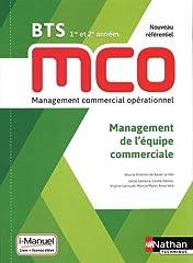 estimation pour le livre Management de l'équipe commerciale - BTS MCO 1re...