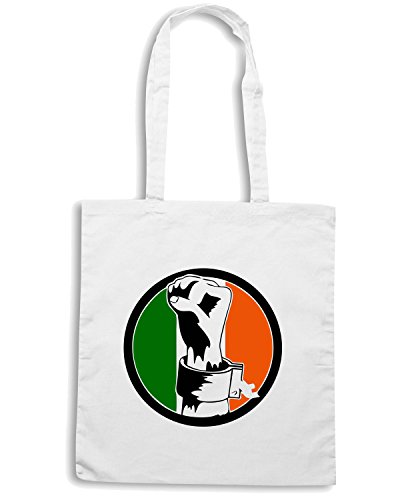 T-Shirtshock - Borsa Shopping TIR0099 irish freedom tshirt Bianco