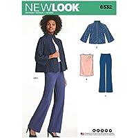 New Look 6532 – Cartamodello Da donna pantaloni ed976e46cdd5