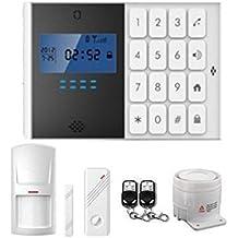 SZABTO Senza fili domestico di GSM Casa antifurto di manopola auto Android iOS controllo con porte e finestre di sensore rilevatore di movimento e Remot