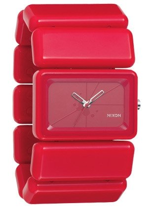 Nixon A726-RED – Wristwatch women's, Plastic Red Strap