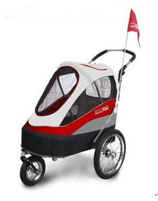 InnoPet® Remorque de vélo convertible et pliable pour chien Avec housse de pluie et pneus