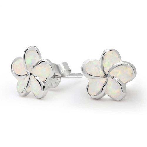 r Opal Ohrhänger Für Damen 925 Sterling Silber 13Mm Oktober Geburtsstein Erstellt ()