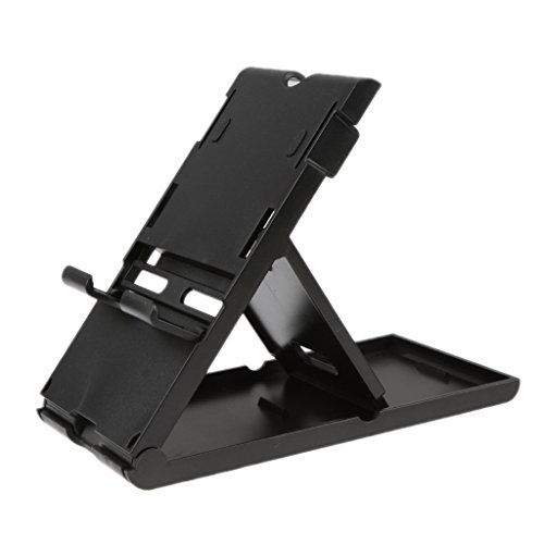 FNT Compact Playstand Fold Stand Holder For Nintendo Switch Game Console Black