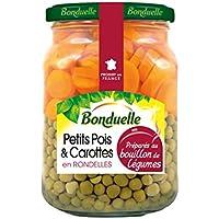 Bonduelle Pois carottes Extre Fines préparés au bouillon de légumes La boîte de 375g - Prix Unitaire - Livraison...