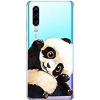 Oihxse Funda Huawei Honor 7A/Y6 2018, Ultra Delgado Transparente TPU Silicona Case Suave Claro Elegante Creativa Patrón Bumper Carcasa Anti-Arañazos Anti-Choque Protección Caso Cover (A15)