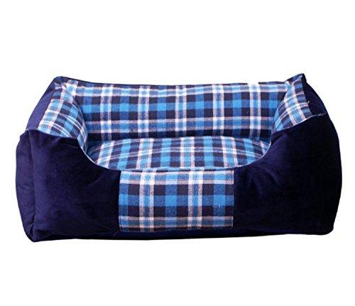 Luxus-weiche warme rutschfeste Plüsch-Hundekatze-Betten Bequeme Haustier-Sofa-Haus und Sofa, Hundezimmer-Haustier-Kissen Superkorb-Welpen-Katzen-Matte für große mittlere kleine Hunde Katzen-vier Jahreszeiten General ( Color : Blue , Size : S ) (Blue-luxus-hund-bett)