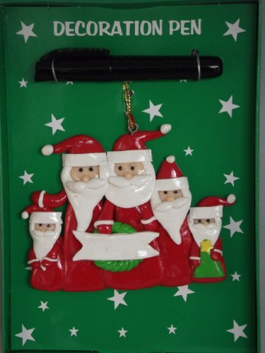 Eigenen Weihnachtsbaum Santas (Personalisieren Schreiben Ihre eigenen Namen Familie von 5Santa Teig Weihnachtsbaum Dekoration)