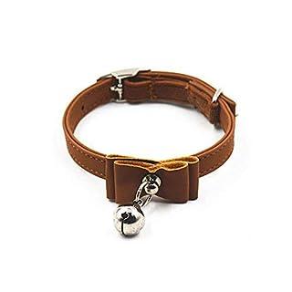 Lvcky Adjustable Safety Pet Dog Cat Collar Kitten Velvet Bow Tie Soft Bowtie Bell Sound Necklace Gift Coffee