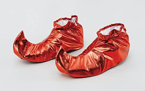 Jester Shoe Covers. Red Metallic