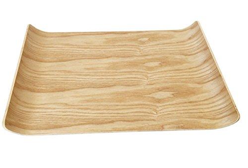 cz-xing Tablett Server Holz Tee Tablett Deko aus Holz Premium Qualität Bambus Tablett für Küche und Eßzimmer B