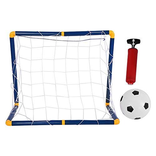 Dwawoo Kinder Fußballtor und Fußball Set, tragbar Fußball + Fußball Tor+ Pump Kit für Outdoor Indoor Fußball Training, Sport Unterricht, Kinder Geschenk, Im Garten -