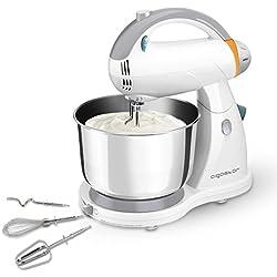 Aigostar Sourdough 30HLZ - Robot de cocina 2 en 1: robot de sobremesa multifunción y batidora de mano, 300W. 4L. Accesorios incluídos, 12 velocidades: amasa, mezcla, bate. BPA FREE. Diseño exclusivo.