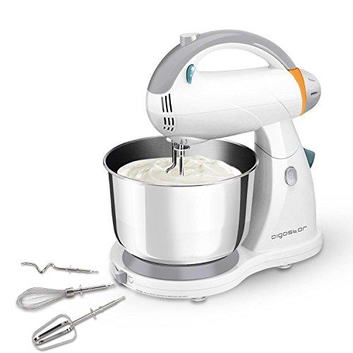 Aigostar Sourdough 30HLZ - Robot de cocina 2 en 1: robot de sobremesa multifunción y batidora de mano, 300W. 4L. Accesorios incluídos, 12 velocidades: amasa, mezcla, bate. BPA FREE. Diseño exclusivo