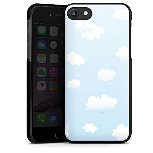 Apple iPhone X Silikon Hülle Case Schutzhülle Wolken Himmel Wolkenmuster Hard Case schwarz